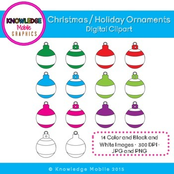 Christmas / Holiday Ornament Clip Art