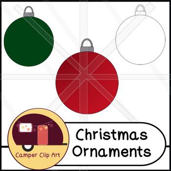 Christmas Holiday Ornament Clip Art Freebie {CU - ok!}