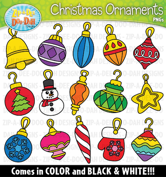 Christmas Holiday Ornaments Clipart {Zip-A-Dee-Doo-Dah Designs}