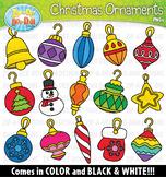 Christmas Ornaments Clipart {Zip-A-Dee-Doo-Dah Designs}