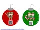 Christmas Holiday Ornaments Musical with QR Codes