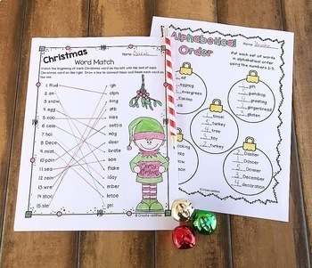 Christmas Language Arts and Math Activities