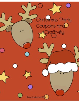 Christmas Holiday Party Coupons & Craftivity