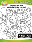Christmas Picture Shapes Clipart {Zip-A-Dee-Doo-Dah Designs}