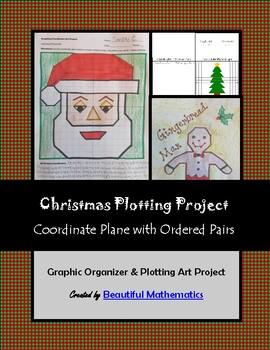 Christmas Holiday Plotting Coordinates Art Project