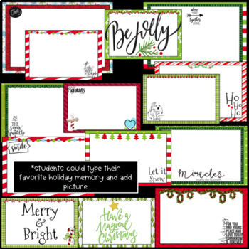 Christmas/Holiday PowerPoint Slideshow- Editable