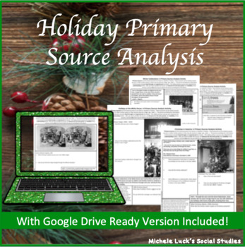 Christmas & Holiday Primary Source Analysis Handout Set