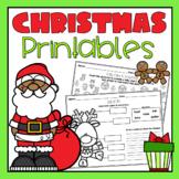 Christmas Holiday Printables and Worksheets