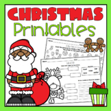 Christmas Holiday Printables and Worksheets