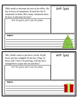 Free Winter Holiday Wordsearch with  Holiday Problem Solving Booklet