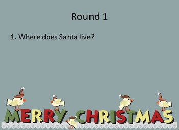 Christmas Holiday Quiz - UK Spelling