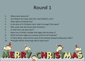Christmas Holiday Quiz - US Spelling