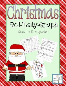 Christmas Holiday Roll Tally Graph Math Activity Set