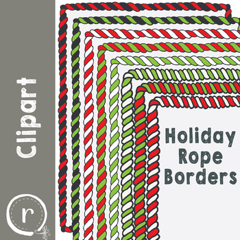 Christmas Holiday Rope or Garland Borders (RDS Clipart)