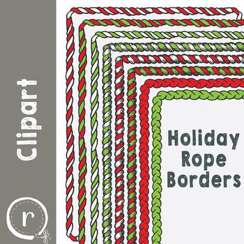 Christmas Holiday Rope or Garland Borders
