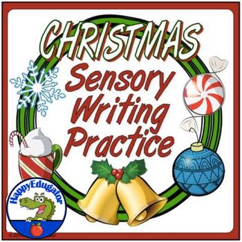 Christmas Holiday Sensory Writing Practice Worksheet