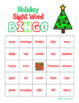 Christmas Holiday Sight Word BINGO - 30 different cards! Includes black - white