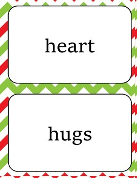 Christmas Holiday Sight Word Cards