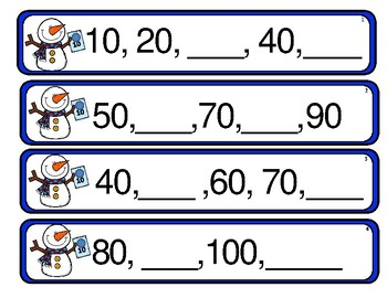 Winter Math Center  Skip Counting by 2s, 5s and 10s.