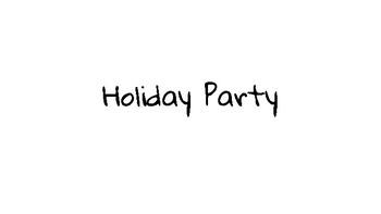 Christmas/Holiday Social Story