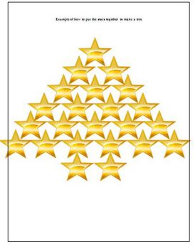 Christmas Holiday Star Decorations for Classroom Display Activity