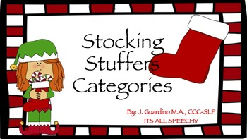 Christmas Holiday Stocking Stuffer Category Sort