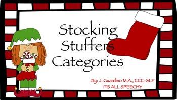Christmas Holiday Stocking Stuffer Category Sort
