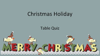 Christmas Holiday Table Quiz - Answer Sheets