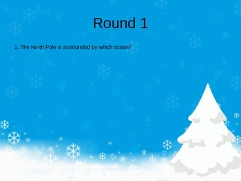 Christmas Holiday Table Quiz - UK Spelling