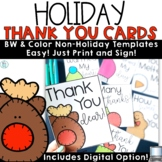 Holiday Thank You Cards | Christmas Notes with Digital
