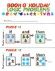 Christmas Holiday Themed Number Logic Puzzle booklet - Customizable L@@K!