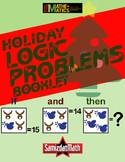 Christmas Holiday Themed Number Logic Puzzle booklet - Cus