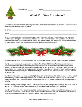 Christmas Theme Reading Prompts
