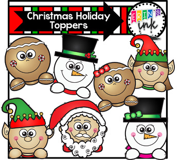 Christmas Holiday Toppers Erin's Ink Clipart