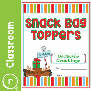 Christmas Holiday Toppers for Snack Bags