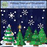 Christmas Holiday Tree and Ornament Clipart {Messare Clips and Design}