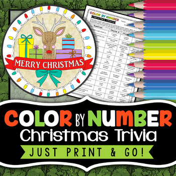 Christmas Holiday Trivia Challenge - Color By Number - Christmas Science