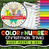 Christmas Holiday Trivia Challenge - Color By Number - Chr