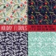 Christmas Holiday Vintage Floral Papers and Backgrounds