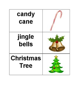 Christmas / Holiday Vocabulary Words with Pictures