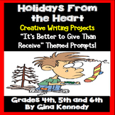 Christmas Writing Projects, Teaching Values During the Holidays
