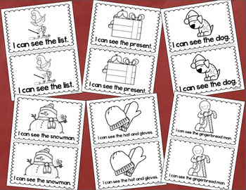 Christmas Holiday Winter Emergent Reader Book Sight Words: I, Can, See, The