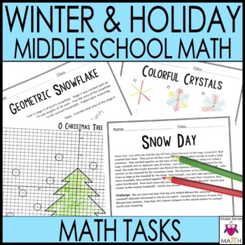 Christmas Holiday & Winter Middle School Math Activities