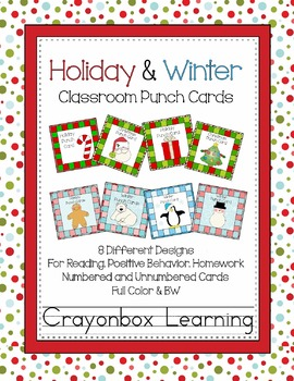 Punch Cards:  Christmas & Winter