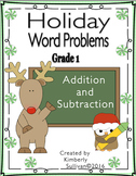 Christmas Math Holiday Word Problems Grade 1 Addition and Subtraction Centers