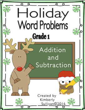 Christmas Math Holiday Word Problems Grade 1 Addition and