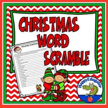 Christmas Word Scramble - A Fun Christmas Puzzle