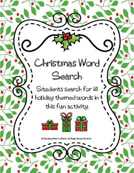 Christmas Holiday Word Search