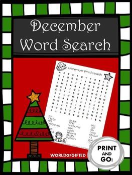 Christmas/Holiday Word Search