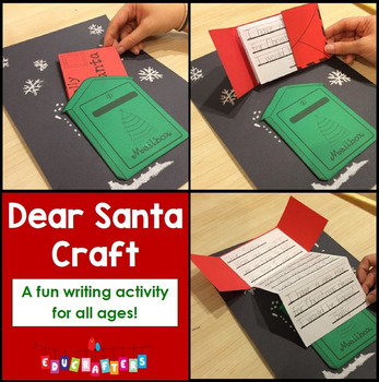 Christmas Holiday Writing Activity - Letter To Santa